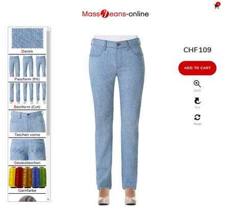 Damen Jeans de - Jeans ganz einfach im Konfigurator designen
