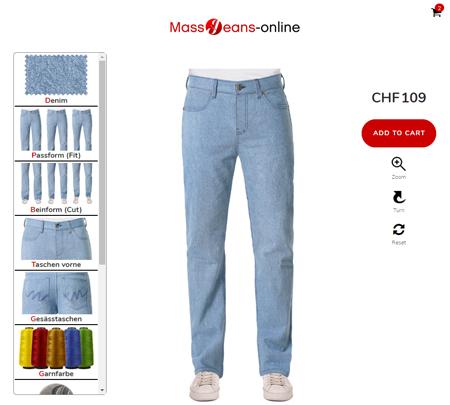 Herren Jeans de - Jeans ganz einfach im Konfigurator designen