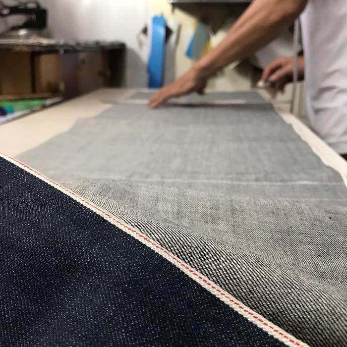 Herstellung Selvedge Jeans