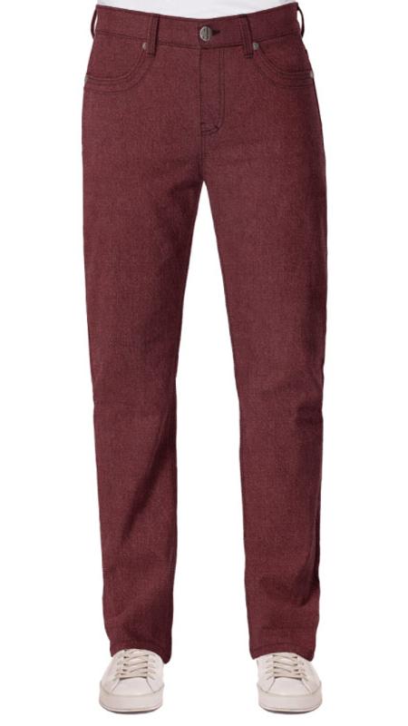 Rote Jeans für männer mit bauch