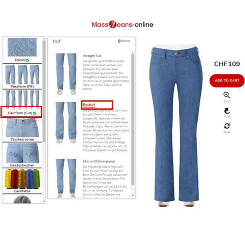 Schlaghosen Jeans Damen selber designen