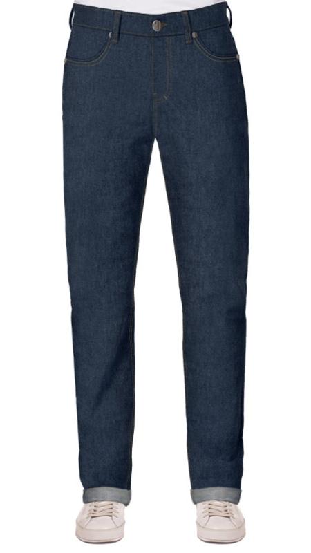 Selvage Jeans für männer mit bauch