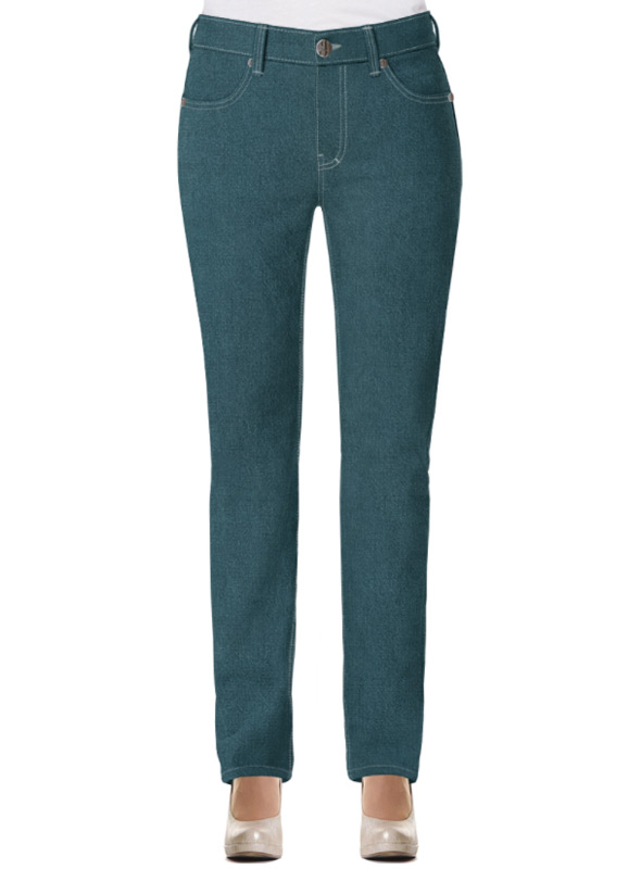 grüne jeans damen hight waist