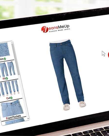 Gestalte deine Jeans, individuell nach deinen Wünschen und Anforderungen.